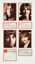 Music Memorabilia:Autographs and Signed Items, Beatles Signed Checks and Payment Documents....
