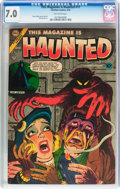 Golden Age (1938-1955):Horror, This Magazine Is Haunted #17 (Charlton, 1954) CGC FN/VF 7.0Off-white pages....