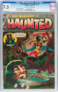 Golden Age (1938-1955):Horror, This Magazine Is Haunted #18 (Charlton, 1954) CGC VF- 7.5 Off-whiteto white pages....