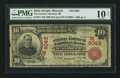 National Bank Notes:Missouri, Saint Joseph, MO - $10 1902 Red Seal Fr. 615 The German American NBCh. # 9042. ...