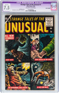 Golden Age (1938-1955):Horror, Strange Tales of the Unusual #1 (Atlas, 1955) CGC Apparent VF- 7.5Off-white to white pages....