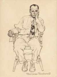 NORMAN ROCKWELL (American, 1894-1978) Waiting at the Doctor's Office, possible Smith Kline advertisement