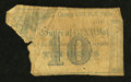 Camp 157th NY Vols., NY- R.A. Bell & Co. Sutlers 10¢ Faded