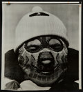 Football Collectibles:Photos, 1961 Vince Lombardi in Ski Mask Original Photograph - Taken Before Playoffs....