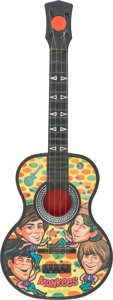 Music Memorabilia:Toys, Monkees Toy Guitar (Mattel, 1966)....