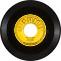 "Music Memorabilia:Recordings, Elvis Presley ""That's All Right/ Blue Moon of Kentucky"" HistoricFirst Sun Single (Sun 209, 1954). ..."
