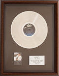 Music Memorabilia:Awards, Michael Jackson Thriller Sales Award (Epic QE 38112,1982)...