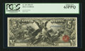 Large Size:Silver Certificates, Fr. 269 $5 1896 Silver Certificate PCGS Choice New 63PPQ.. ...