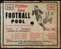 Football Collectibles:Others, 1942 Green Bay Packers Vs. Cleveland Rams, Etc. Large Cardboard Gambling Piece....