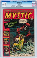 Golden Age (1938-1955):Horror, Mystic #18 (Atlas, 1953) CGC FN 6.0 White pages....