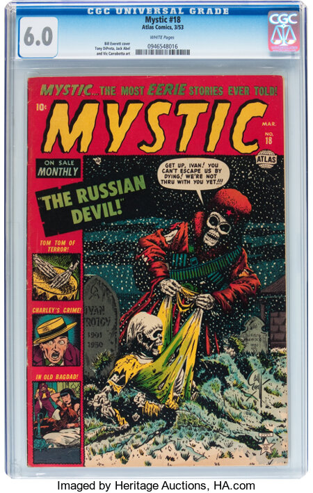 Mystic #18 (Atlas, 1953) CGC FN 6.0 White pages....