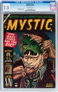 Golden Age (1938-1955):Horror, Mystic #24 (Atlas, 1953) CGC VF- 7.5 Off-white pages....
