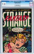 Golden Age (1938-1955):Horror, Strange Fantasy #7 (Farrell, 1953) CGC FN/VF 7.0 Cream to off-whitepages....