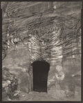 Photographs:Gelatin Silver, LINDA CONNOR (American, b. 1944). Tomb, Doorway, Petra,Jordan, 1995. Platinum. 9-5/8 x 7-5/8 inches (24.4 x 19.4 cm).S...
