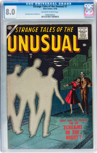 Strange Tales of the Unusual #7 (Atlas, 1956) CGC VF 8.0 Off-white to white pages