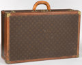 """Luxury Accessories:Accessories, Louis Vuitton Classic Monogram Canvas Alzer 70 Hardsided Trunk. Good Condition. 28"""" Width x 17"""" Height x 7"""" Depth. ..."""