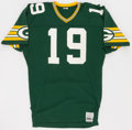 Football Collectibles:Uniforms, 1984 Rich Campbell Game Worn Green Bay Packers Jersey....