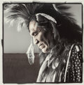 Photographs:Gelatin Silver, PHIL BORGES (American, b. 1942). Roy Pete, Crow Agency, Montana, 1995. Gelatin silver, masked, bleached, and toned, prin...