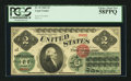 Large Size:Legal Tender Notes, Fr. 41 $2 1862 Legal Tender PCGS Choice About New 58PPQ.. ...