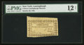 Colonial Notes:New York, New York- Lansingburgh Museum October 20, 1792 3d PMG Fine 12 Net.....