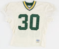 Football Collectibles:Uniforms, 1996 William Henderson Practice Worn Green Bay Packers Jersey - Super Bowl XXXI Season....