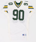 Football Collectibles:Uniforms, 1991 Tony Bennett Game Worn Green Bay Packers Jersey....