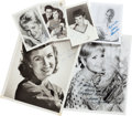 Movie/TV Memorabilia:Photos, Six Debbie Reynolds Signed Photographs....