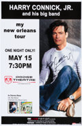 Music Memorabilia:Autographs and Signed Items, Harry Connick Jr. Signed Concert Poster (2007)....
