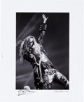Music Memorabilia:Autographs and Signed Items, Rob Zombie - Signed Print (2010)...