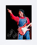 Music Memorabilia:Autographs and Signed Items, Buddy Guy Autographed Oversized Photo (1998)....
