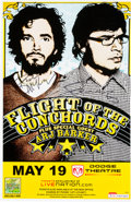 Music Memorabilia:Autographs and Signed Items, Flight of the Conchords Autographed Tour Poster (2009)....