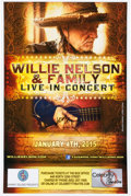 Music Memorabilia:Autographs and Signed Items, Willie Nelson Autographed Concert Poster (2015)....