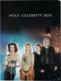 Hole Autographed Promotional Poster (1998)