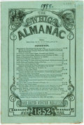Books:Americana & American History, [Whigs]: THE WHIG ALMANAC AND UNITED STATES REGISTER FOR 1852. NewYork: [1851]. . ...