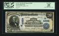 National Bank Notes:Wyoming, Laramie, WY - $20 1902 Plain Back Fr. 657 The First NB Ch. # (W)4989. ...