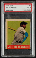 Baseball Cards:Singles (1940-1949), 1948 Leaf Joe DiMaggio #1 PSA VG 3....