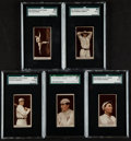 Baseball Cards:Lots, 1012 T207 Brown Background SGC Graded Group (5). ...