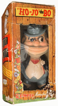 "Baseball Collectibles:Others, 1949 Rempel ""Ho-Jo"" the BO"" Brooklyn Bum Rubber Squeak Toy andOriginal Box...."