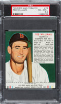 Baseball Cards:Singles (1950-1959), 1952 Red Man Ted Williams #23 PSA NM-MT+ 8.5 - The Highest GradedExample! ...