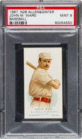 Baseball Cards:Singles (Pre-1930), 1888 N28 Allen & Ginter John M. Ward PSA Mint 9 - Pop Two, NoneHigher! ...