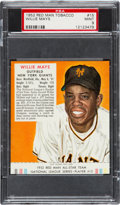 Baseball Cards:Singles (1950-1959), 1952 Red Man Willie Mays #15 PSA Mint 9 - The Finest PSA Example!...