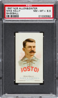 Baseball Cards:Singles (Pre-1930), 1888 N28 Allen & Ginter Mike Kelly PSA NM-MT+ 8.5 - Pop One,One Higher! ...