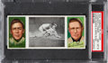 Baseball Cards:Singles (Pre-1930), 1912 T202 Hassan Evers Makes A Safe Slide Chance/Tinker PSANM-MT 8 - Pop Two, None Higher!...