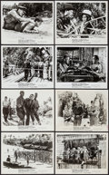 "Movie Posters:War, The Bridge on the River Kwai (Columbia, R-1963). Photos (8)(approx. 8"" X 10"") & Pressbook (13 Pages, 11"" X 17""). War.. ...(Total: 9 Items)"