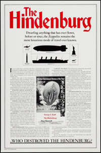 """The Hindenburg (Universal, 1975). One Sheets (2) (27"""" X 41"""") Regular and Zeppelin Facts Styles. Thriller"""