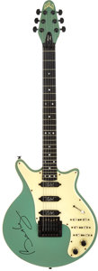 Musical Instruments:Electric Guitars, Queen's Brian May's 1984 Guild BHM-1 Sea Foam Green Solid BodyElectric Guitar, Serial # NBHM00262....
