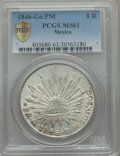 Mexico, Mexico: Republic 8 Reales 1846 Go-PM MS61 PCGS,...