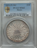 Mexico, Mexico: Republic 8 Reales 1851 Pi-MC MS62 PCGS,...