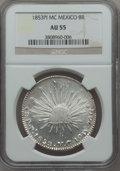 Mexico, Mexico: Republic 8 Reales 1853 Pi-MC AU55 NGC,...