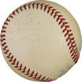 Autographs:Baseballs, 1940-42 Walter Johnson Single Signed Baseball....